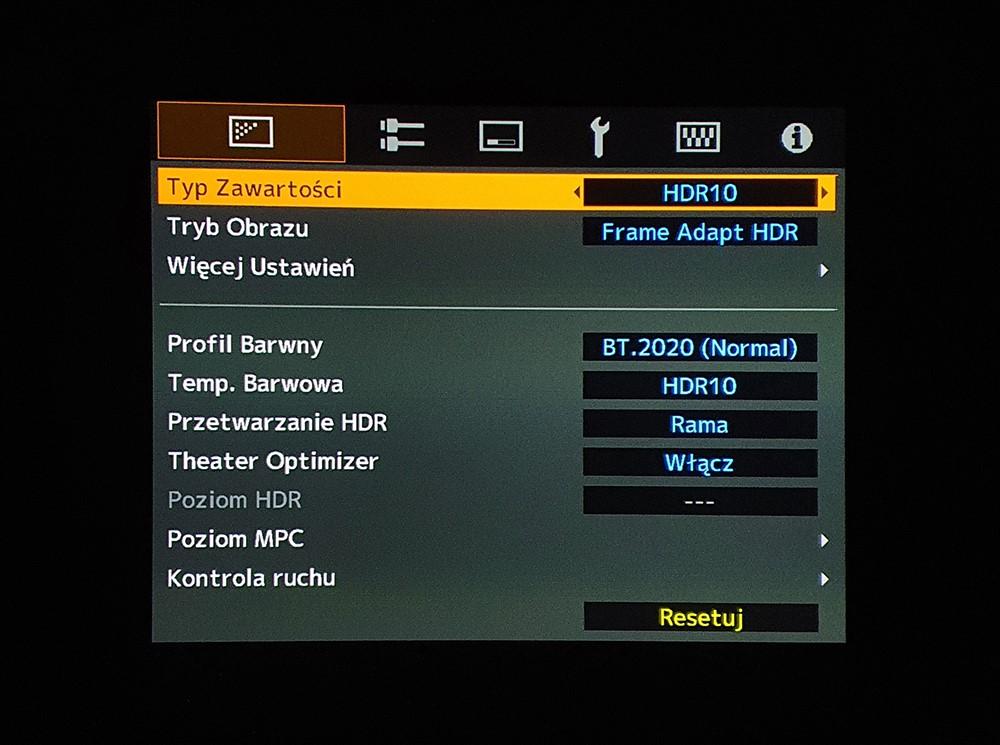 Projektory JVC aktualizacja